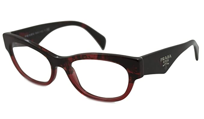 f89c530d0e7 Image Unavailable. Image not available for. Color  Prada PR13QV Eyeglasses-RO0 1O1  Red Havana Grad ...