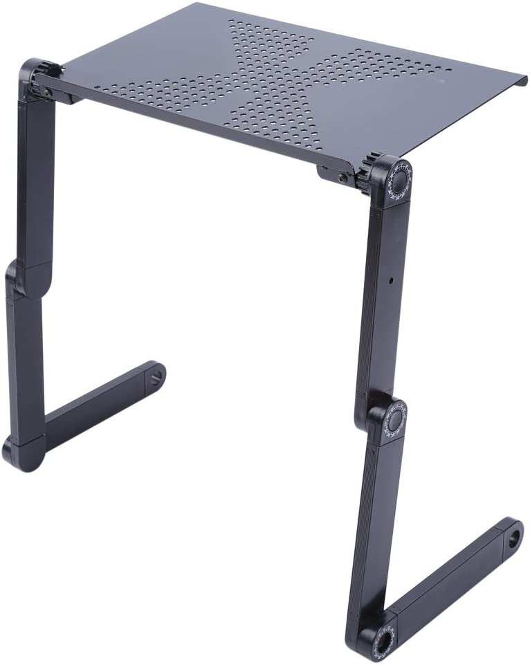360 Degree Adjustable Notebook Desk Table Tray Computer Holder Base for Living Room Study Room Office School Teacher Student Workers Black AYNEFY Folding Laptop Stand