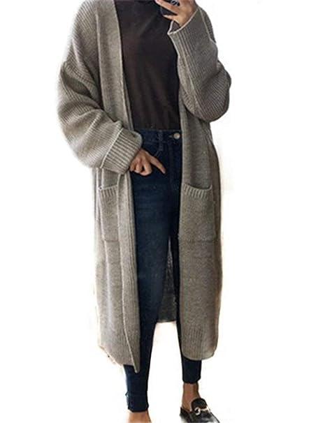 Abrigo Tejido Mujer Otoño Invierno Largos Tallas Grandes Cardigan Classic Vintage Modernas Casual Fashion Casual Elegante Chaqueta De Punto Manga Larga con ...