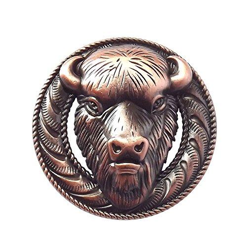 Buffalo Head Antique Copper Finish Conchos (Concho Buckle)