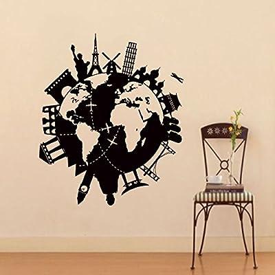 Wall Vinyl Decals World Travel Map Decal Sticker Home Decor Art Mural Z542