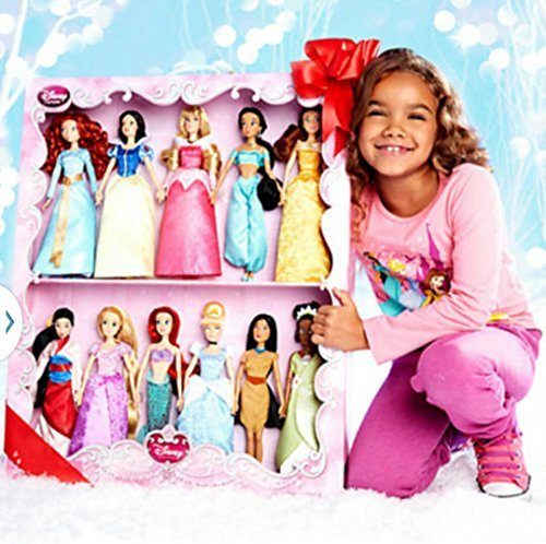 Disney Princess 11 Doll Deluxe Doll Gift Set 2014 Edition