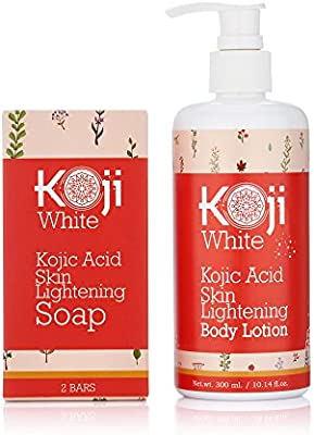 Pure Kojic Acid Skin Lightening Soap For Hyperpigmentation, Dark Spots, Sun Damage, Uneven Skin Tone (2.82 oz / 2 Bars)