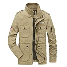 K3K Spring Autumn Mens Casual Cotton Tactical Coat Stand Collar Fashion Light Jacket
