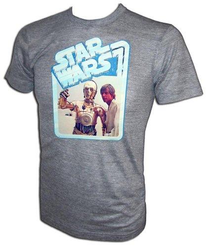 - Star Wars A New Hope Luke Skywalker and C-3PO Vintage 12 back Episode IV Promotional T-Shirt