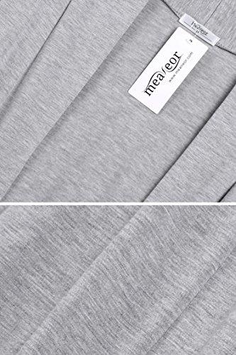 Asimmetria Maglione Maglia Cardigan Manica Donne Meaneor Maxi Lunga Gray1 Lungo 8vI5xnq6