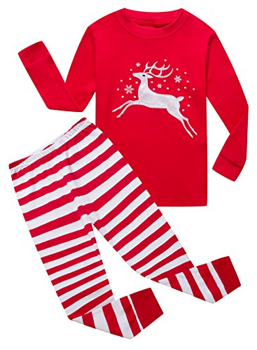 Family Feeling Baby Girls Long Sleeve Christmas Pajamas Sets 100% Cotton Pyjamas Toddler Infant Kids 12-18 Months Reindeer