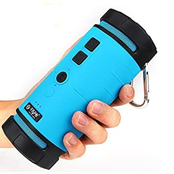 Wireless Bluetooth Speaker Outdoor Sport Shockproof Dust-proof Super Bass Stereo, High-def Sound Blue