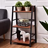 Premium Bookcase Wooden Furniture Multi 3-Tier Storage Shelf for Books, Display and Media Items, Brown