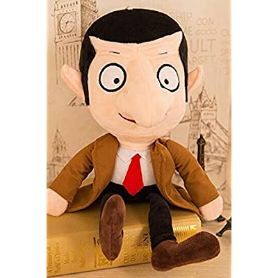 2pcs/set 30 CM Mr Bean and Teddy Soft Plush Toy Set: Toys & Games