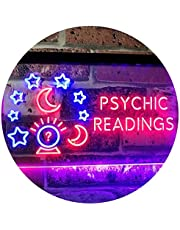 Psychic Readings Crystal Ball Dual Color LED Neon Sign