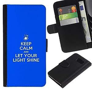 All Phone Most Case / Oferta Especial Cáscara Funda de cuero Monedero Cubierta de proteccion Caso / Wallet Case for Samsung Galaxy S6 // BIBLE Let Your Light Shine