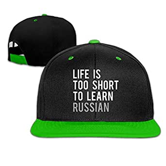 c6e74fbb05480 Image Unavailable. Image not available for. Color  REBELN Life is Too Short  to Learn Russian Adjustable ...
