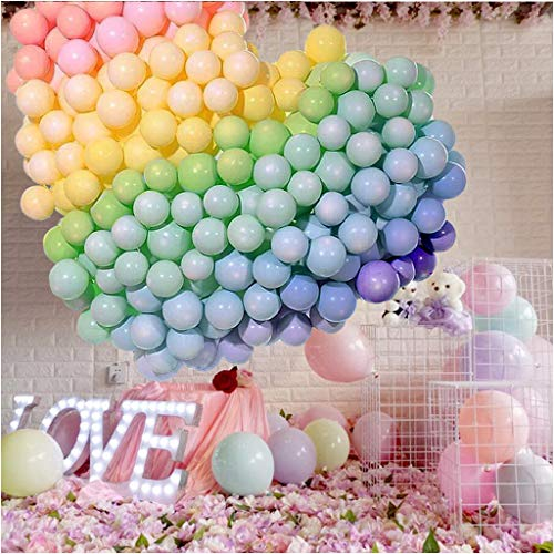5 Inch Small Pastel Balloons Macaron Assorted Candy Colored Balloons for Rainbow Arch Birthday Baby Shower Party Decor Supplies Helium Balloon Garland Tower - - 5 Pastel Inch