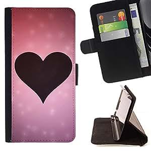 Momo Phone Case / Flip Funda de Cuero Case Cover - Amor Rosa Amor del Corazón - Samsung Galaxy S4 IV I9500