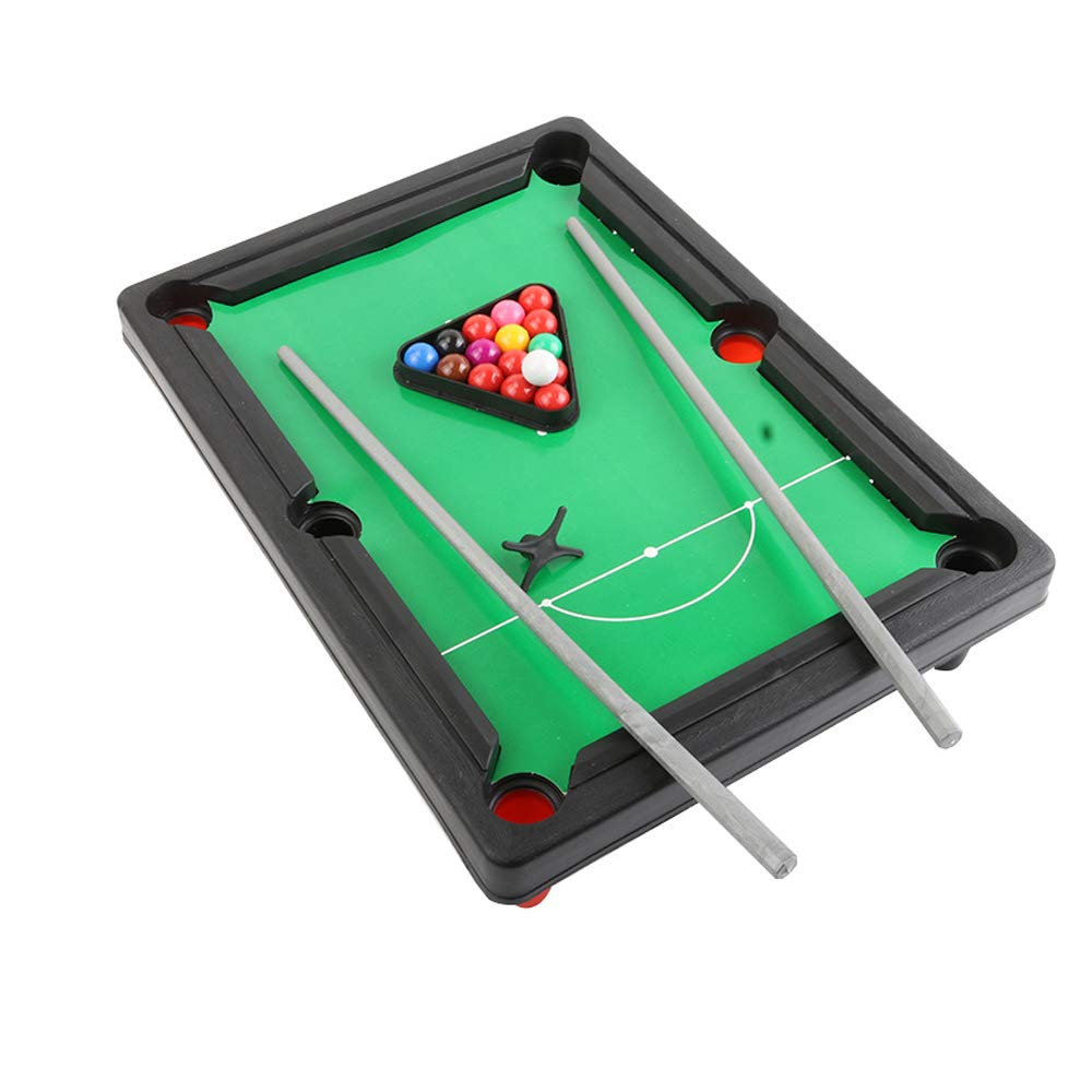 Metal Dragon 77th Fun Portable 33 cm Mini Pool Table Billiard Game Snooker for Kids or Stress Relief Great Gift by Metal Dragon 77th