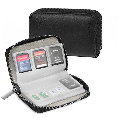 Memory Card Case, MoKo PU Leather Storag