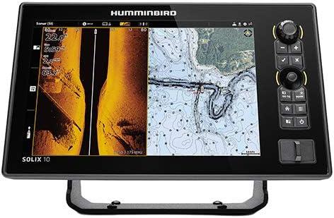 Humminbird SOLIX 10 G2 Fish Finder with Chirp, Mega Si , GPS, and 10.1-Inch-Display