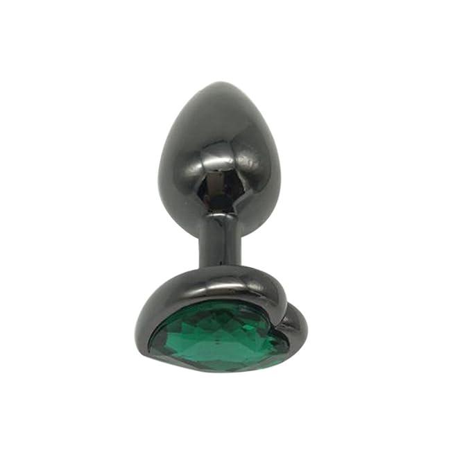 SCHOLIEBEN Colorfor Crystal Metal Acero Inoxidable Enchufe Anal En Forma De CorazóN: Amazon.es: Ropa y accesorios