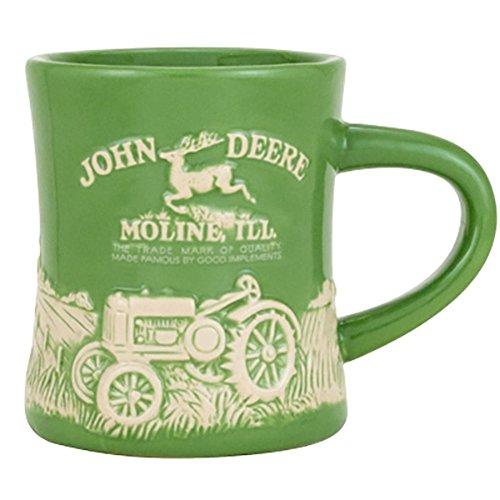 John Deere Stoneware Green Ceramic Model D Mug from John Deere