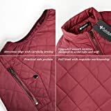 fuinloth Women's Padded Vest, Stand Collar