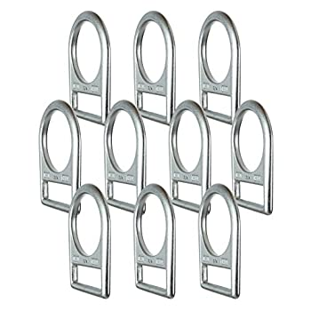 Image of Belay & Rigging Fusion Climb Fluxion Carbon Steel Drop Forged Single Slotted Steel D-Ring Silver WLL 5000 lbs 10-Pack