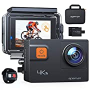 APEMAN Action Camera A87, 4K 60FPS Touch Screen 20MP WiFi Sports Cam for Vlog Underwater Camcorders Waterproof 40M with…