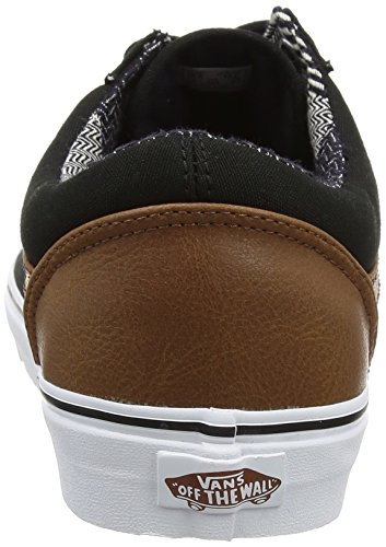 Vans Ua Old Skool, Zapatillas para Hombre Negro (C And L Black/material Mix)