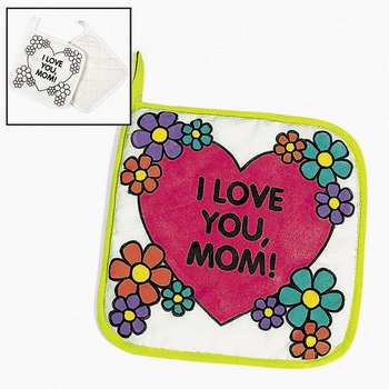 Color Your Own Canvas Mom Pot Holders - Crafts for Kids & Color Your Own (Canvas Pot Holders compare prices)