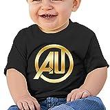 Baby Infant Avengers Age Of Ultron Gold Logo Cute Short-sleeve Tee Black