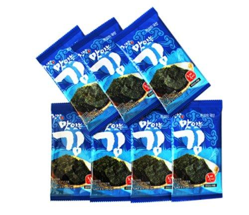 Mini Roasted Seasoned Seaweed 100 Packs/ Green Laver/ Yaki Nori, Picnic,snack by JinYang (Image #4)