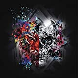Diamond Painting Kits for Adults Kids, 5D DIY Tiger & Skull Diamond Art Accessories with Round Full Drill Dotz for Home Wall Decor - 11.8×11.8Inches