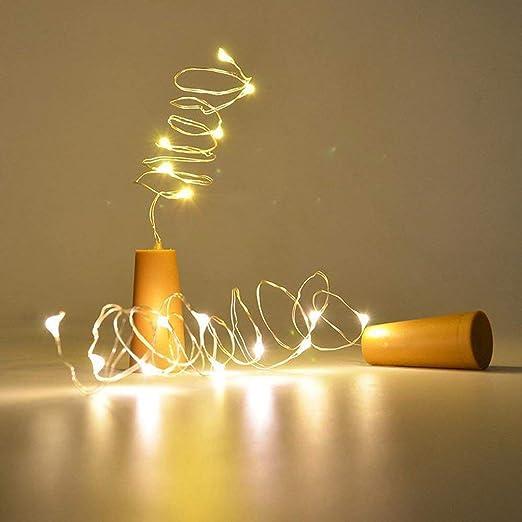 6 x corchos con cadena de luz para decoración de botellas de ...