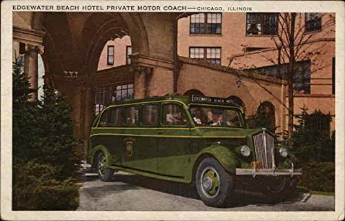 (Edgewater Beach Hotel - Private Motor Coach Chicago, Illinois Original Vintage Postcard)