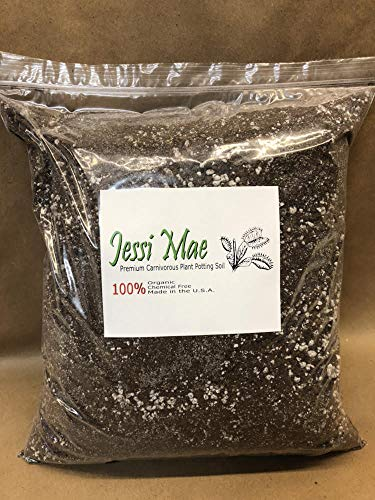 Premium Carnivorous Plant Potting Soil Mix, All Natural Organic and Chemical Free Soil for Succulents, Cactus, Venus Fly Traps, Sundews and Pitcher Plants by Jessi Mae (1 Gallon (4 quarts))