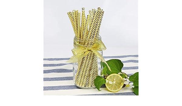 Molde para tartas – 100 pajitas de papel desechables de grado alimenticio con diseño de corazones y rayas para bodas y fiestas: Amazon.es: Hogar