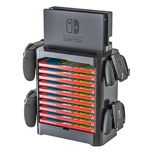 Skywin Game Storage Tower for Nintendo Switch – Nintendo Switch Game Holder Game Disk Rack and Controller Organizer…