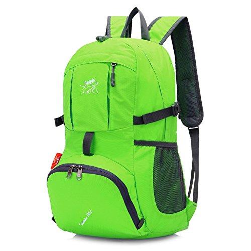 Hongrun Doppel Schulter Rucksack leichte und elegante faltbarer Rucksack wasserdicht Reisen wandern Skin Pack 6uYZu4