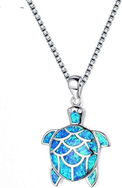 Océano azul ópalo de fuego Cabujón Cruz Latina CZ Colgante de Plata para Collar