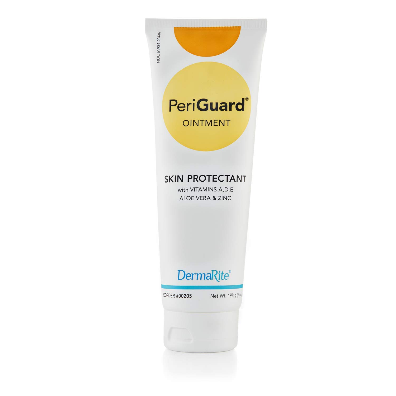 Dermarite PeriGuard Antimicrobial Skin Protectant Ointment, 2 Pack - 7 oz Tube - with Vitamins A, D, E, Aloe Vera and Zinc - Clear Moisture Barrier Cream