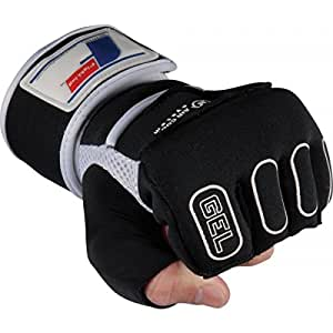 Fighting Sports Pro Gel Glove Wraps, Black, Large