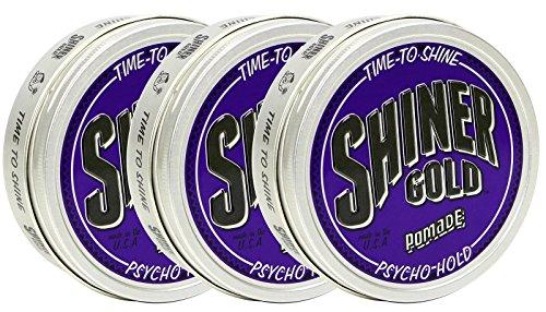 Shiner Gold Psycho Hold Pomade 3 Pack