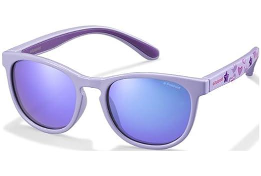 Polaroid Unisex-Kinder Sonnenbrille Pld 8013/S JY ME2, Blau (Bluette Orange/Greyblmirror Pz), 46
