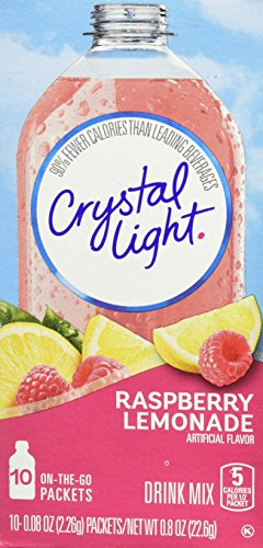 Light Soft Drink - Crystal Light On The Go Drink Mix, Raspberry Lemonade, 10 Count