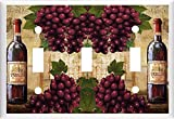 wall borders grapes - WINE AND GRAPE BOTTLE LIGHT SWITCH COVER PLATE OR OUTLET (3x Toggle)
