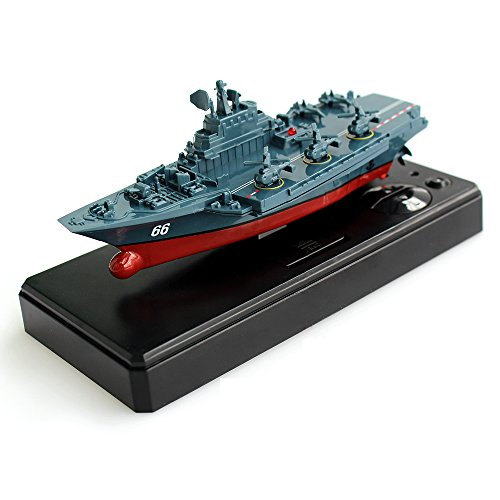 Tipmant Military Remote Control Aircraft Carrier Model RC Boat Ship Speedboat Yacht Electric Water Toy - Blue (Antenna Not Needed)