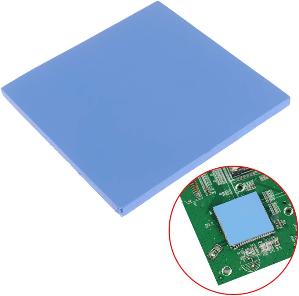 100mm x 100mm x 1mm Blue for CPU Chip Heat Conduction LED Heat Conduction CPU Thermal Pads Diydeg Thermal Conductive Silicone Pad