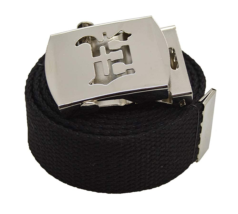 StyleU Old English Canvas Web Military Black Belt /& Buckle 60 inch #AAAS