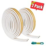 Jeicy Door seal weatherstripping,Rubber Window Seal Strip Soundproofing 32 Ft (10M) White