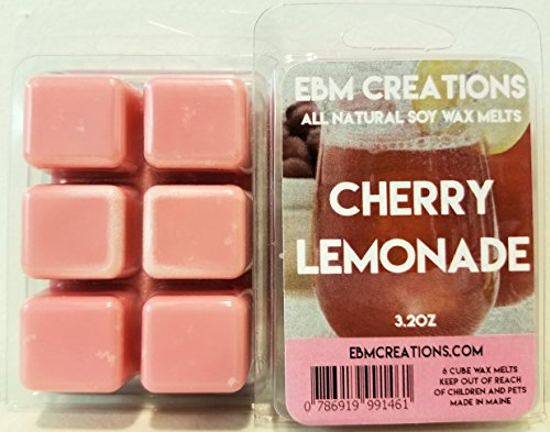 Cherry Lemonade - Scented All Natural Soy Wax Melts - 6 Cube Clamshell 3.2oz Highly Scented!